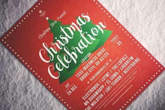 Elegant Christmas Celebration Flyer