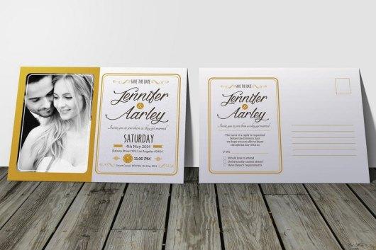 Elegant Wedding Invitation & RSVP Templates