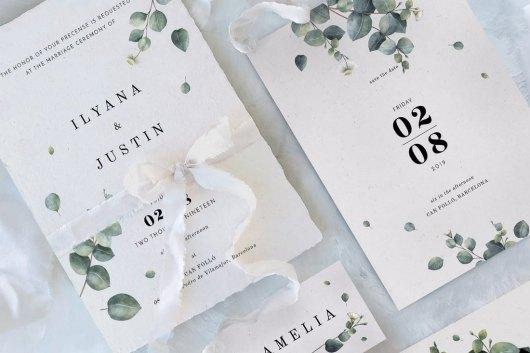 Eucalyptus Foliage Wedding Templates