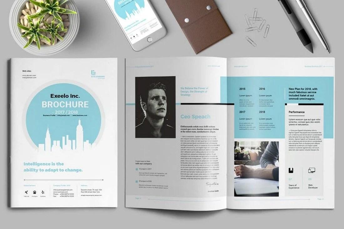 Exeelo Brochure Template - 70+ Modern Corporate Brochure Templates