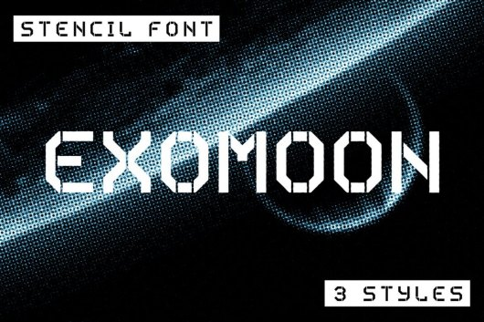 Exomoon - Display Stencil Font