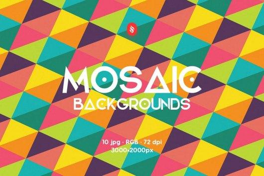 Flat Mosaic Pattern Backgrounds
