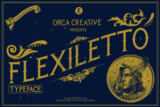 Flexiletto Vintage Gothic Font