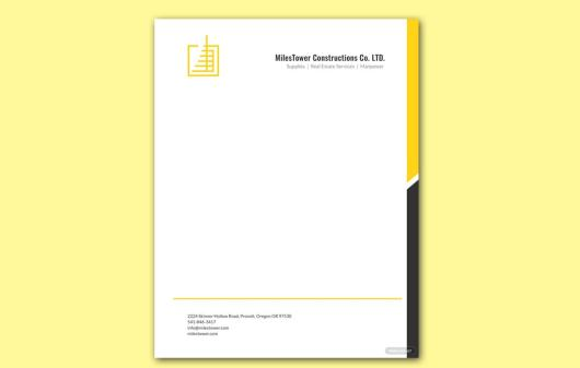 Free Construction Letterhead Template