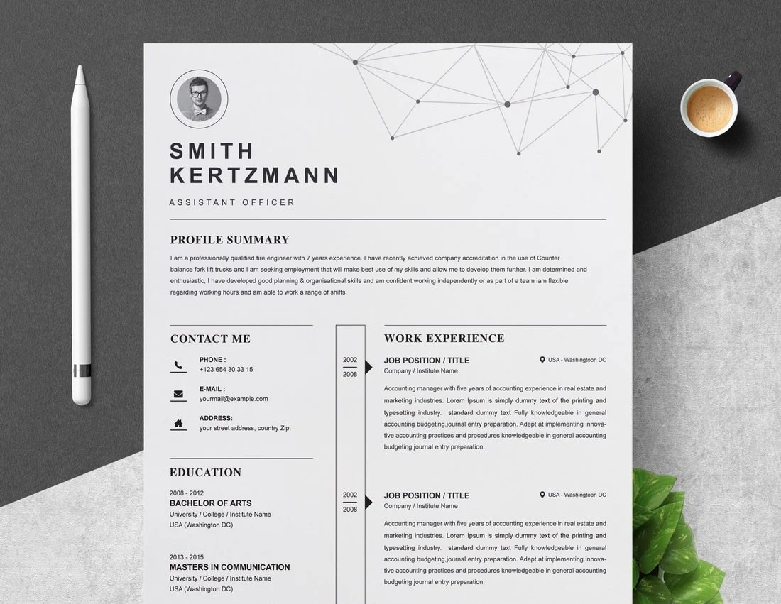 If you've worked hard to format a document jus. 50 Best Cv Resume Templates 2021 Design Shack