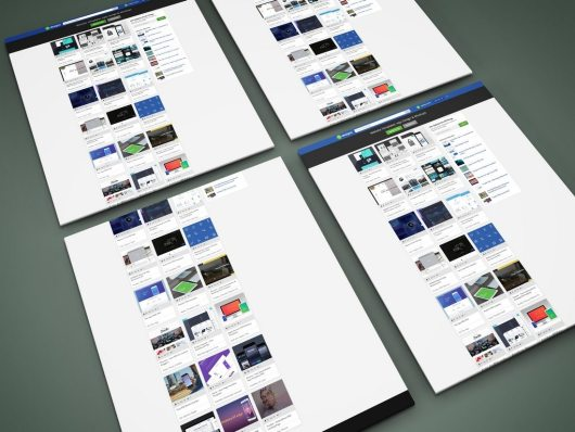 20+ Best Website PSD Perspective Mockups