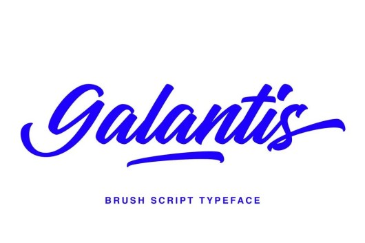 Galantis Script - Brush Script Font