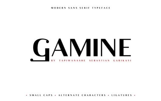 Gamine - Free Singage Font