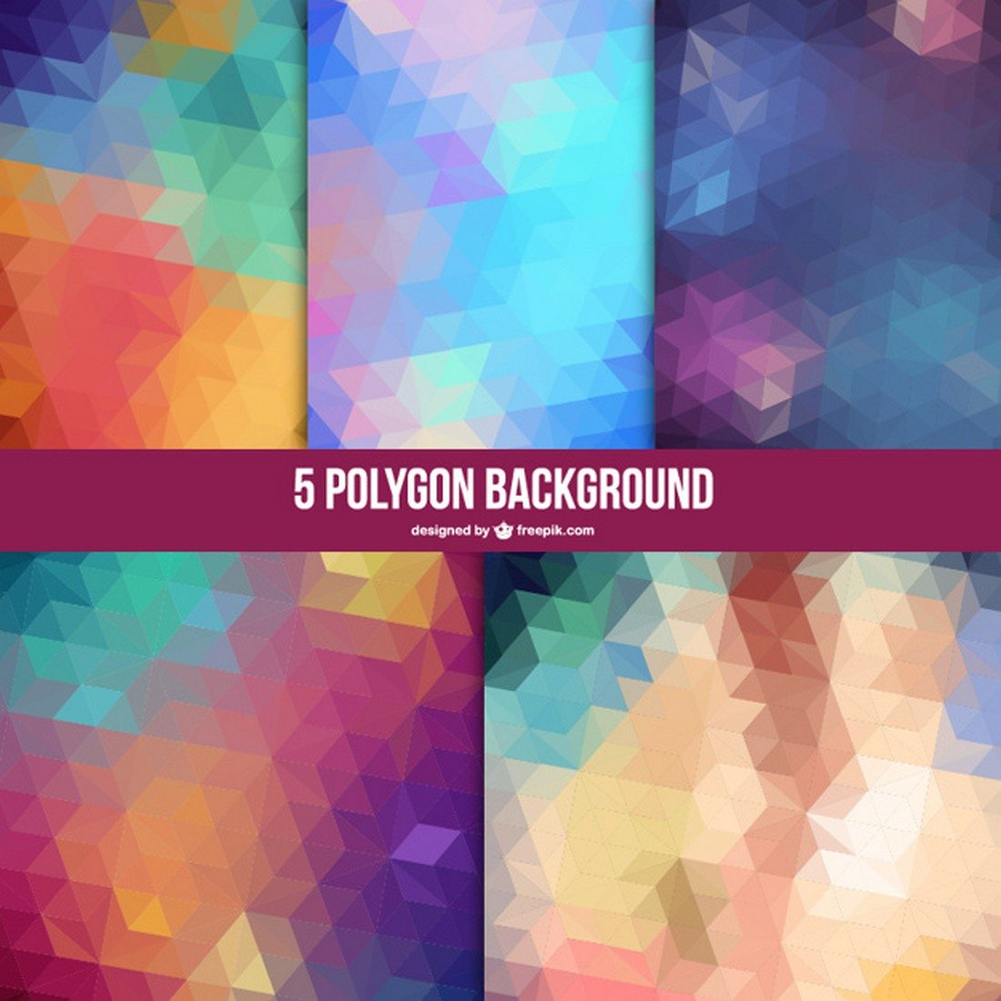 20+ Beautiful Geometric & Polygon Background Textures 61