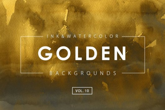 Golden Ink Watercolor Backgrounds 10