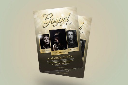 Gospel Glory Church Flyer Template