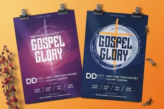 Gospel Music Flyer Bulletin Template