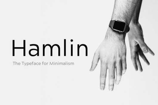 HAMLIN - Minimal Geometric Fonta