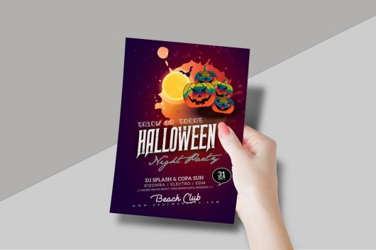 Halloween Club Party Flyer