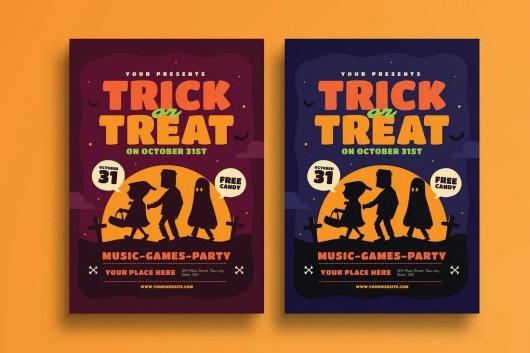 Halloween Trick Or Treat Flyer Template