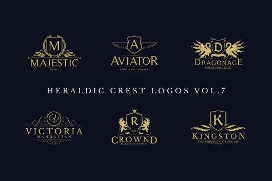Heraldic Crest Logos & Sign Templates