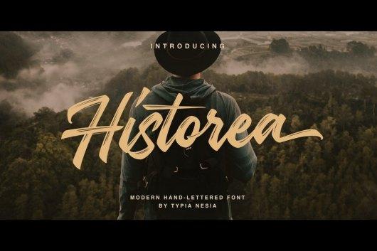 Historea - Modern Handlettered Brush Font