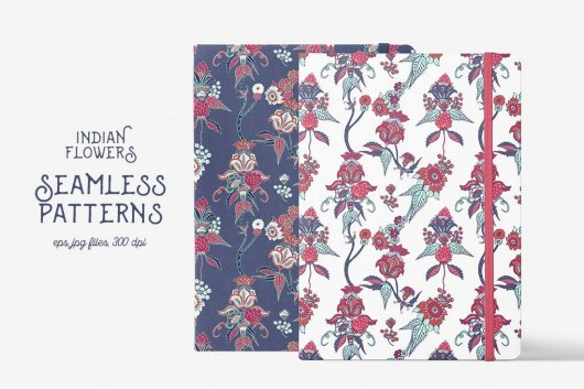 Indian Flowers Pattern Backgrounds