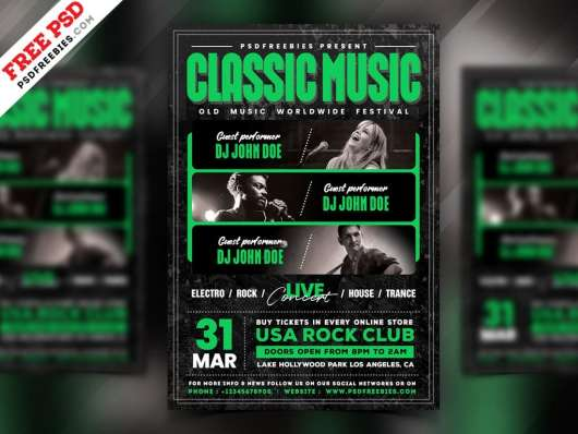 Indie Classic Music Poster Template