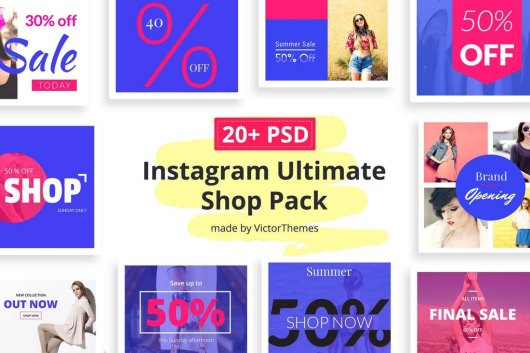 Instagram Social Media Shop Templates