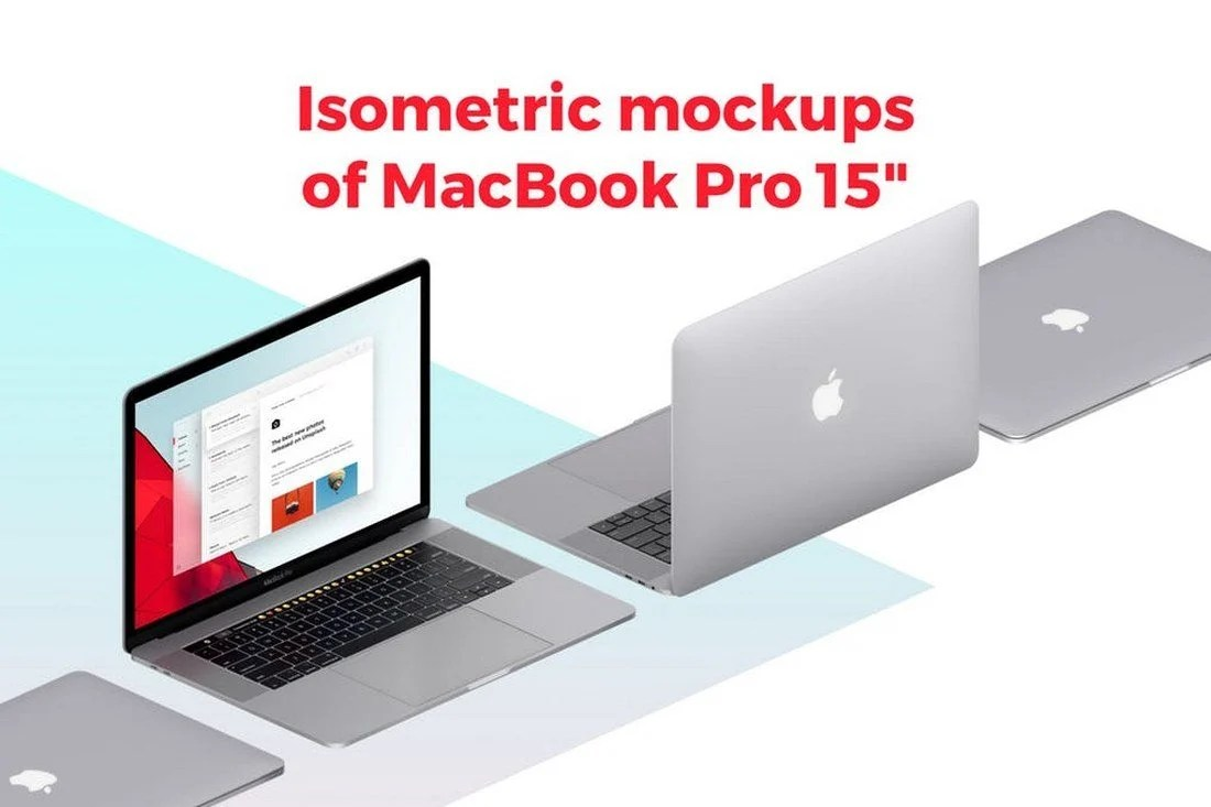 20+ Best Isometric Mockup Templates 28