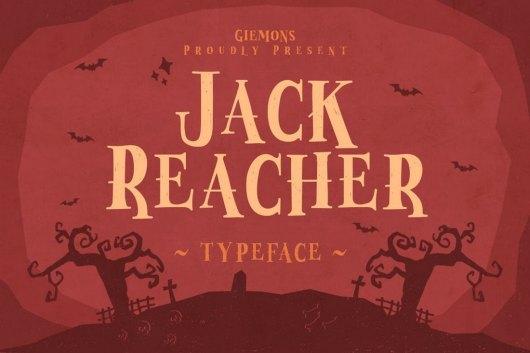 Jack Reacher - Halloween Font