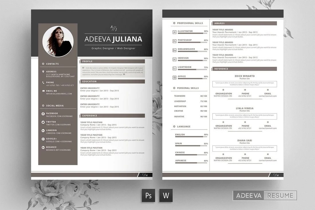 With this graphically designed color block resume template, you can summarize your talents in a. 50 Best Cv Resume Templates 2021 Design Shack