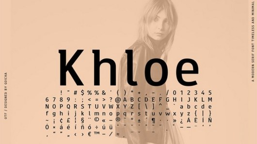 Khloe - A Timeless Font