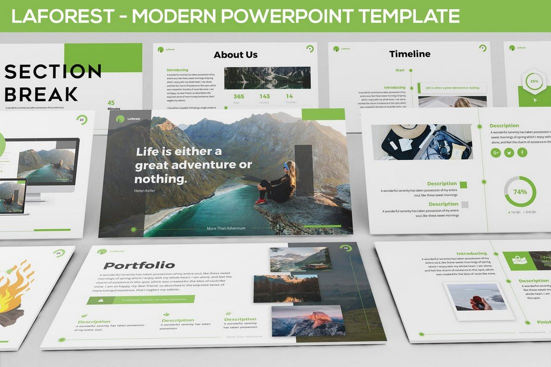 Laforest - Modern Powerpoint Template