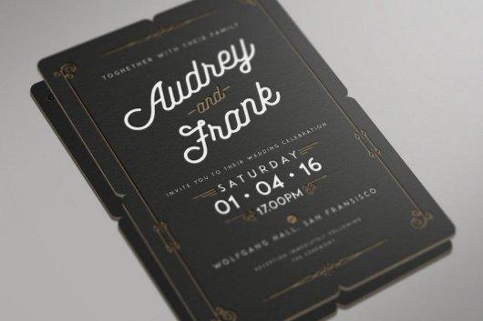 Letterpress Wedding Invitation
