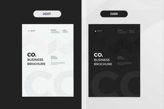 Light & Dark Company Business Brochure
