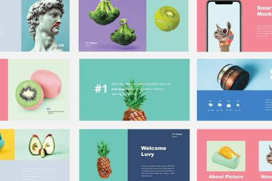Luvy - Free Colorful PowerPoint Template