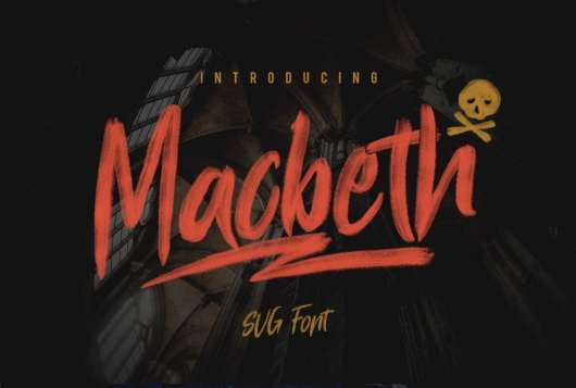 Macbeth - Free SVG Font
