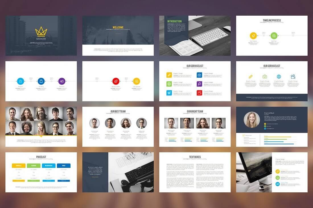 60+ Beautiful, Premium PowerPoint Presentation Templates 65