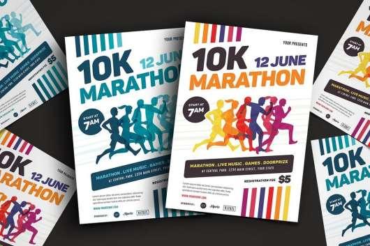 Marathon Event Flyer