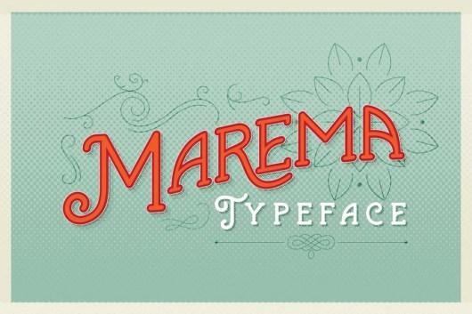 Marema Gothica Typeface