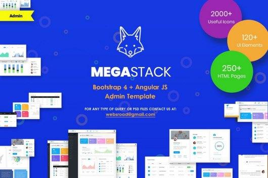 MegaStack - Bootstrap 4 & Angular JS Admin Template