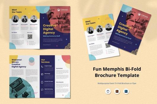 Memphis Creative Bifold Brochure Design