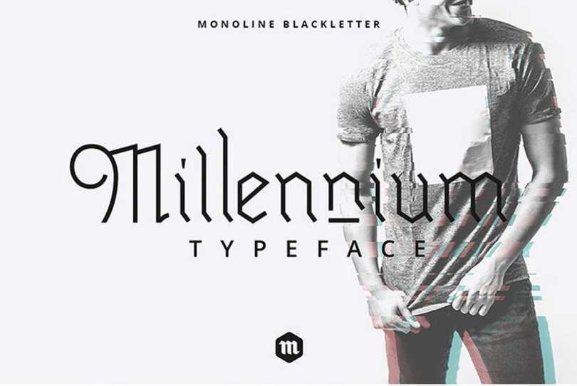 Millennium Blackletter Typeface