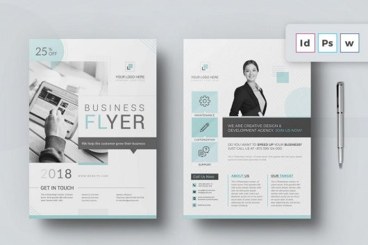 Minimal Business Flyer Word Brochure Template