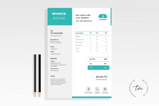 Minimal Clean Invoice Template