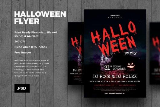 Minimal Halloween Flyer Template