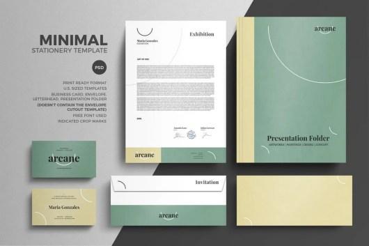Minimal Pastel Stationery Design Template