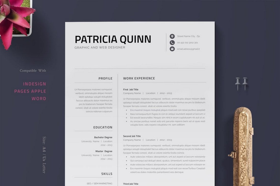 No matter what kind of job you are seeking, your resume can be the key to your success. 35 Best Pages Resume Cv Templates 2021 Design Shack