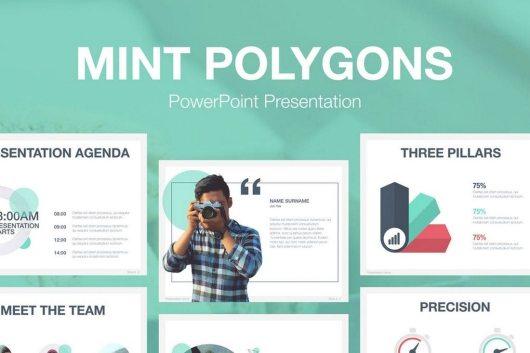 60 beautiful premium powerpoint presentation templates irc web mint polygons powerpoint template price envato elements subscription toneelgroepblik Choice Image