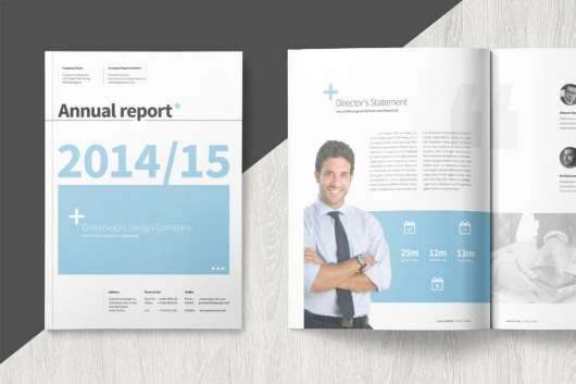 Modern Annual Report Template
