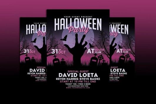 Modern Halloween Party Flyer