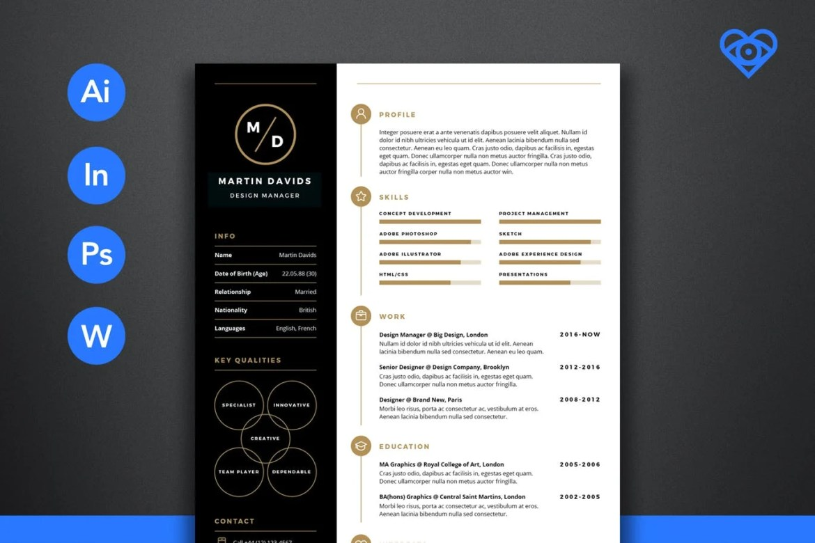 The best cv resume templates 50 examples coastal media brand this professional resume comes with a modern design that quickly attracts anyones attention it also comes in a4 size and in 3 pages for the resume yelopaper Gallery