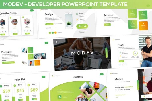 Modev Powerpoint - Developer Presentation Template