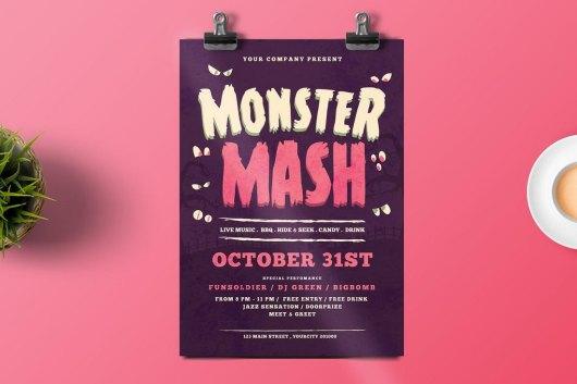 Monster Mash Halloween Flyer Template